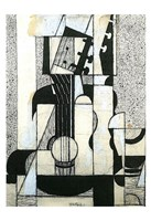 """Still Life with Guitar by Juan Gris - 13"""" x 19"""""""