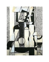 """Still Life with Guitar by Juan Gris - 11"""" x 14"""""""