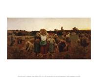 The Return of the Gleaners, 1859 Fine Art Print