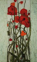 "15"" x 25"" Poppies Art"