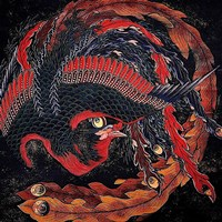 "Phoenix by Katsushika Hokusai - 12"" x 12"""