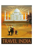 "Travel India by Kem Mcnair - 13"" x 19"""