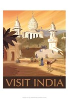 "Visit India by Kem Mcnair - 13"" x 19"""
