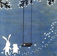 "Follow Your Heart- Let's Swing by Kristiana Parn - 12"" x 12"""