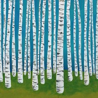 Birch Grove Fine Art Print
