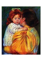 "Maternal Kiss 1896 by Mary Cassatt - 13"" x 19"", FulcrumGallery.com brand"