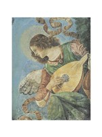Angel with Lute Fine Art Print