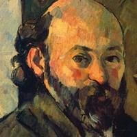 """Self-Portrait-1882 (detail) by Paul Cezanne, 1882 - 12"""" x 12"""""""
