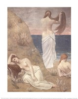 Young Women at the Sea Shore (petite version) Fine Art Print