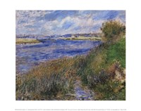 La Seine a Champrosay - Banks of the Seine River at Champrosay, 1876 Fine Art Print