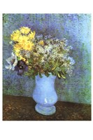 """Vase with Lilacs, Daisies and Anemone by Vincent Van Gogh - 13"""" x 19"""", FulcrumGallery.com brand"""