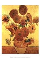Sunflowers on Gold, 1888 Fine Art Print