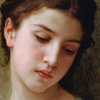 Head Study of a Young Girl (detail) Fine Art Print