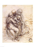 Virgin and Child with St. Anne by Leonardo Da Vinci - various sizes