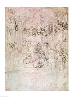 Composition sketch for The Adoration of the Magi, 1481 by Leonardo Da Vinci, 1481 - various sizes