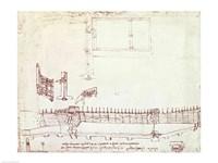 Design for Fortifications by Leonardo Da Vinci - various sizes