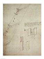 Design for a Lock by Leonardo Da Vinci - various sizes