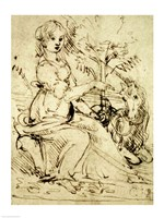 Lady with a Unicorn by Leonardo Da Vinci - various sizes