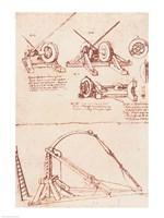 Designs for a Catapult by Leonardo Da Vinci - various sizes