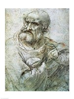 Study for an Apostle from The Last Supper, c.1495 Fine Art Print