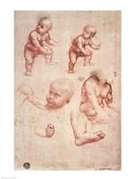 Study for the Infant Christ by Leonardo Da Vinci - various sizes