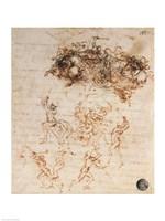 Study of Horsemen in Combat and Foot Soldiers, 1503 by Leonardo Da Vinci, 1503 - various sizes
