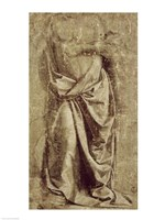 Drapery Study for a Standing Figure Seen from the Front by Leonardo Da Vinci - various sizes