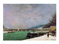 The Seine at the Pont d'Iena, Winter, 1875 Fine Art Print
