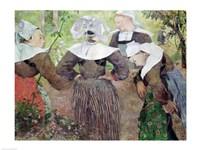 Four Breton Women, 1886 Fine Art Print