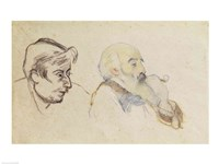 Portrait of Pissarro by Gauguin and Portrait of Gauguin by Pissarro Fine Art Print