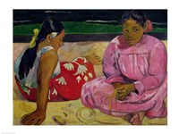 Women of Tahiti, On the Beach, 1891 Fine Art Print