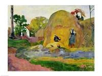 Yellow Haystacks, 1889 by Paul Gauguin, 1889 - various sizes