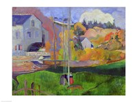 Brittany Landscape: the David Mill, 1894 by Paul Gauguin, 1894 - various sizes, FulcrumGallery.com brand