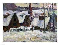 Breton village under snow, 1894 by Paul Gauguin, 1894 - various sizes, FulcrumGallery.com brand