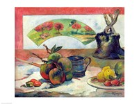 Still Life with a Fan, c.1889 Fine Art Print