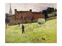 Haymaking in Brittany, 1888 Fine Art Print