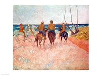 Horseman on the Beach Fine Art Print