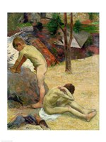 Breton Boys Bathing, 1888 Fine Art Print