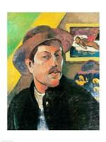 Self Portrait in a Hat Fine Art Print