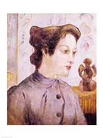 Portrait of a Young Woman, 1886 Fine Art Print