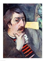 Portrait of the Artist with the Idol, 1893 by Paul Gauguin, 1893 - various sizes