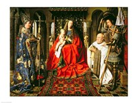 Madonna and Child with Canon Joris van der Paele, 1436 Fine Art Print