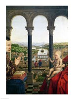 The Rolin Madonna - Detail by Jan Van Eyck - various sizes - $16.49