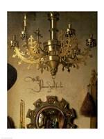 The Arnolfini Marriage (chandelier detail) Fine Art Print