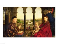 The Rolin Madonna - Panel by Jan Van Eyck - various sizes - $16.49