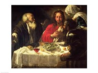 The Supper at Emmaus, c.1614-21 Fine Art Print