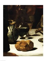 The Supper at Emmaus, Detail 1601 (bread) Fine Art Print