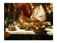 The Supper at Emmaus, Detail 1601 Fine Art Print