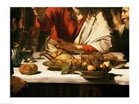 The Supper at Emmaus, Detail 1601 Fine Art Print