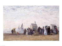 The Beach at Trouville, 1867 Fine Art Print